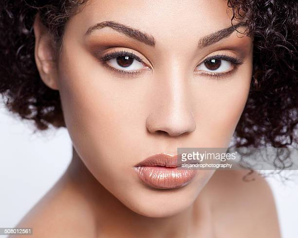 beautiful woman - eye make up stock pictures, royalty-free photos & images