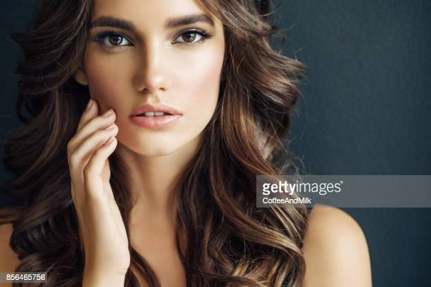 beautiful woman - eye make up stock photos and pictures