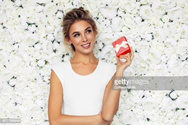 beautiful woman - red roses stock pictures, royalty-free photos & images