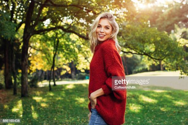 beautiful woman - sweater stock pictures, royalty-free photos & images