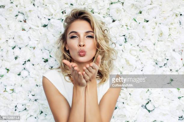 beautiful woman - pretty blondes stock pictures, royalty-free photos & images