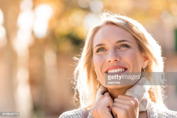 Beautiful woman portrait on the street