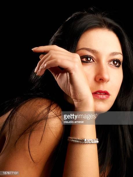 Hermoso Retrato de la mujer. SPA. Imagen de Color