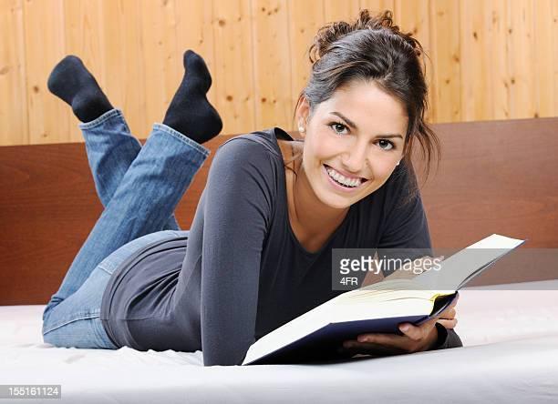 Beautiful woman reading a book (XXXL)