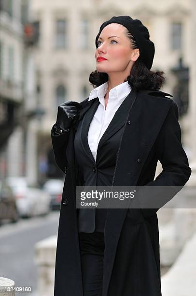 Beautiful woman standing on the street
