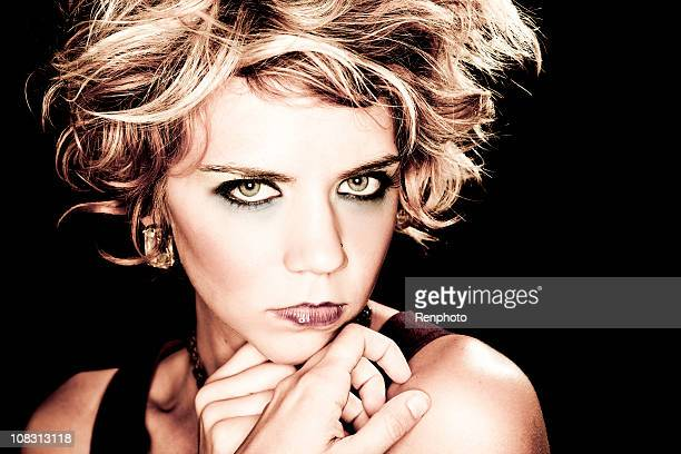 Beautiful woman studio portrait