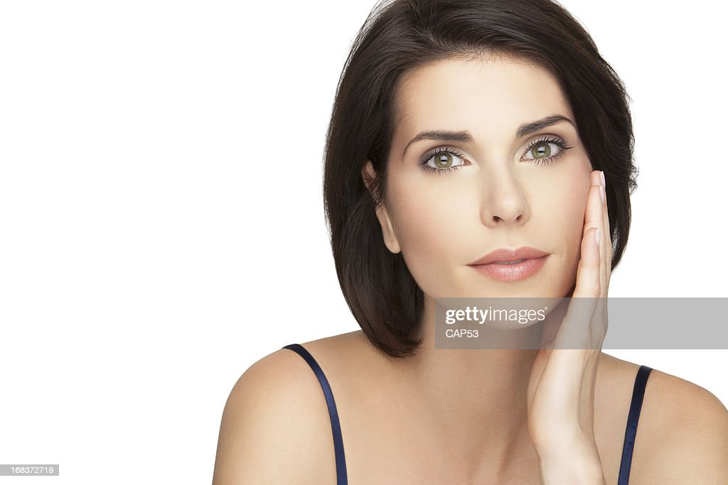 Beautiful Woman Taking Care Of Her Skin : Stock Photo