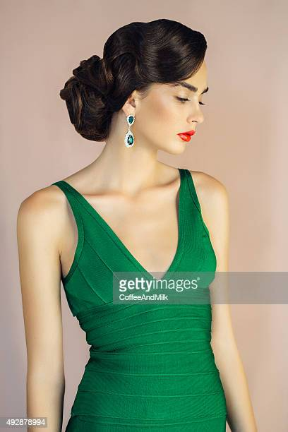 Beautiful woman wearing cocktail dress