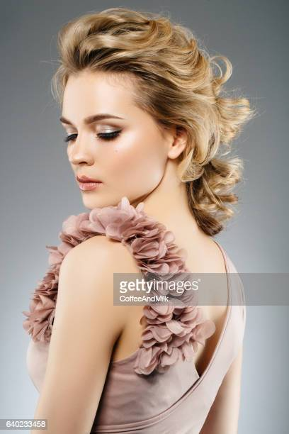 beautiful woman wearing dress - cocktail dress stock pictures, royalty-free photos & images