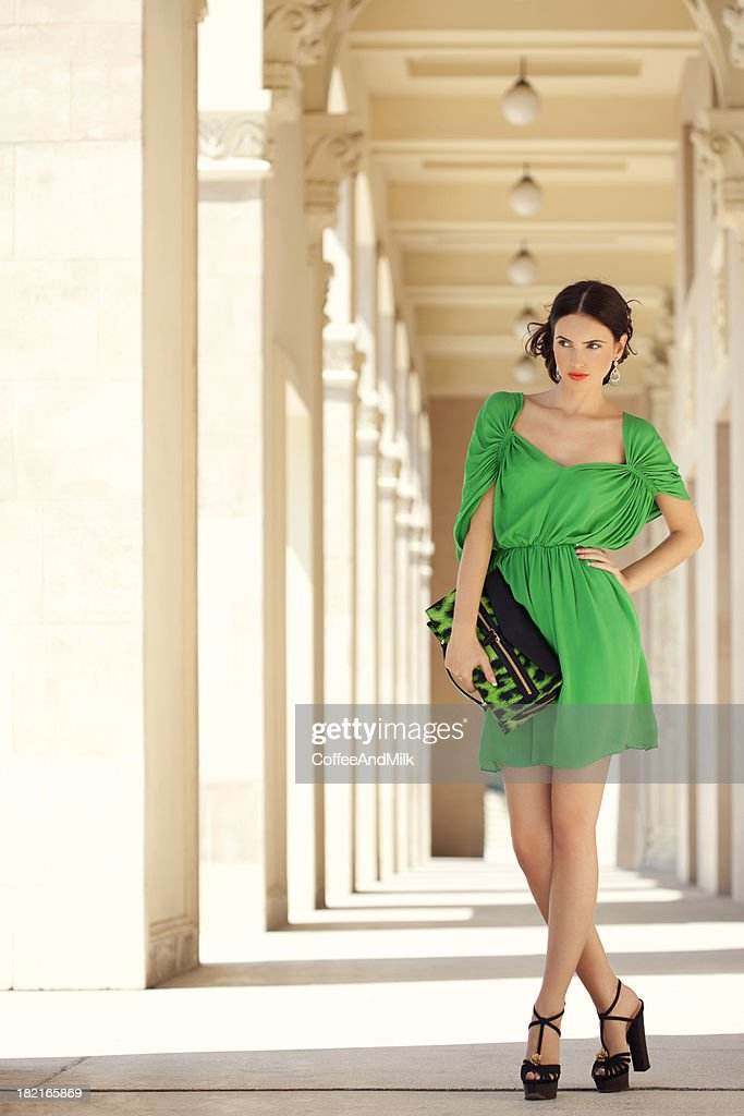 05bf35d91918 Green Dress Stock Photos and Pictures
