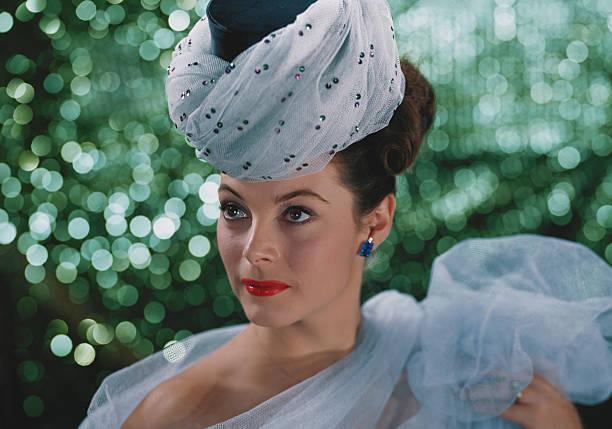 Beautiful woman wearing headdress
