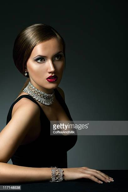Beautiful woman wearing jewelry