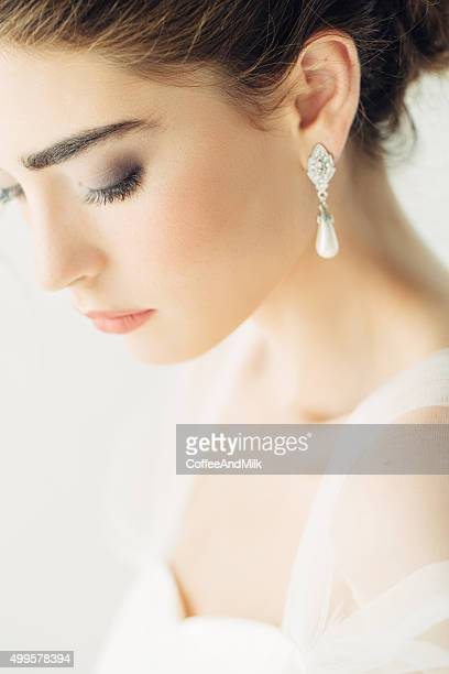 Beautiful woman wearing wedding dress