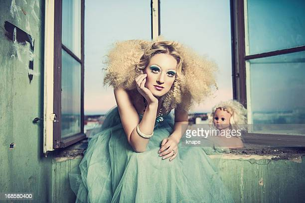 beautiful woman with creative styling - editorial stock pictures, royalty-free photos & images