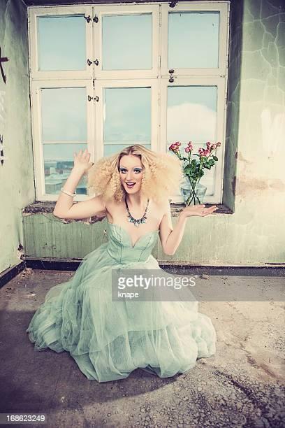 Beautiful woman with creative styling