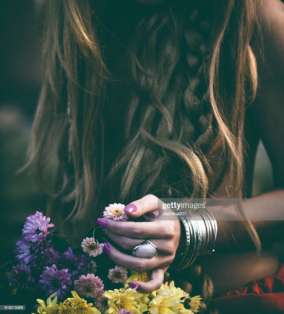 Beautiful woman with flowers stock photo getty images beautiful woman with flowers stock photo izmirmasajfo