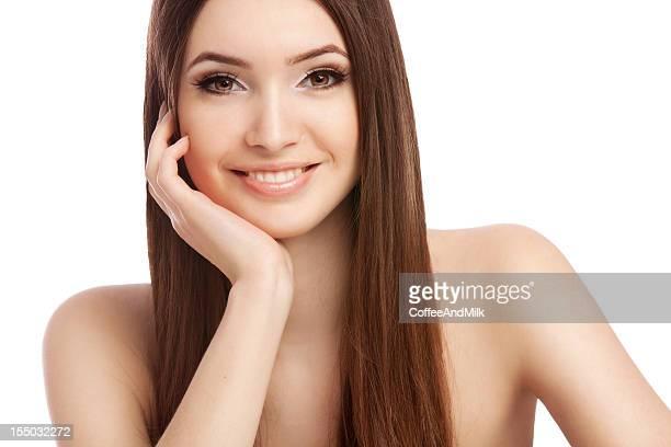 Belle femme avec un sourire son