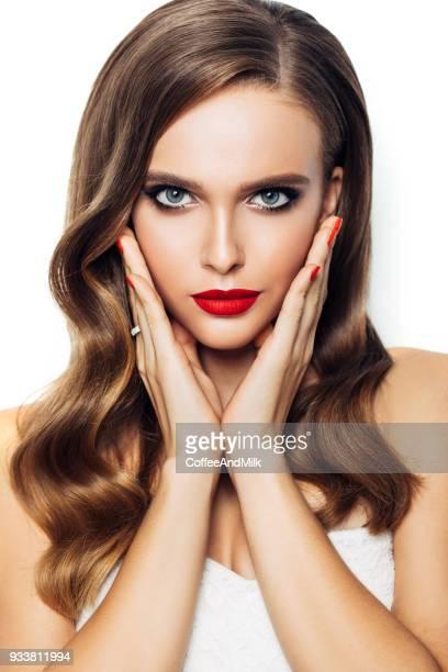Schöne Frau mit langen Haar