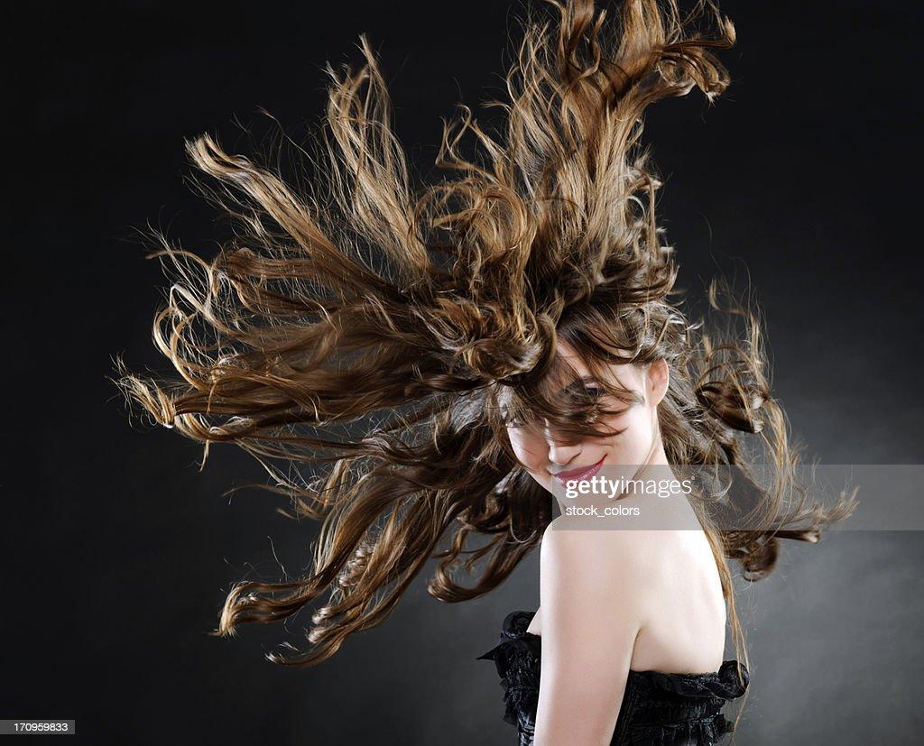 beautiful woman with luxurious hair : Stock Photo
