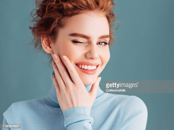beautiful woman with luxury hairs - toothy smile stock pictures, royalty-free photos & images