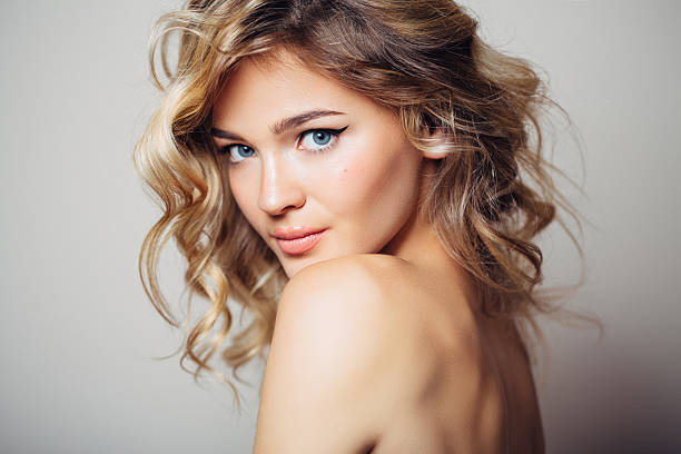 Free beautiful lady images pictures and royalty free stock happy woman beautiful woman with make up voltagebd Images