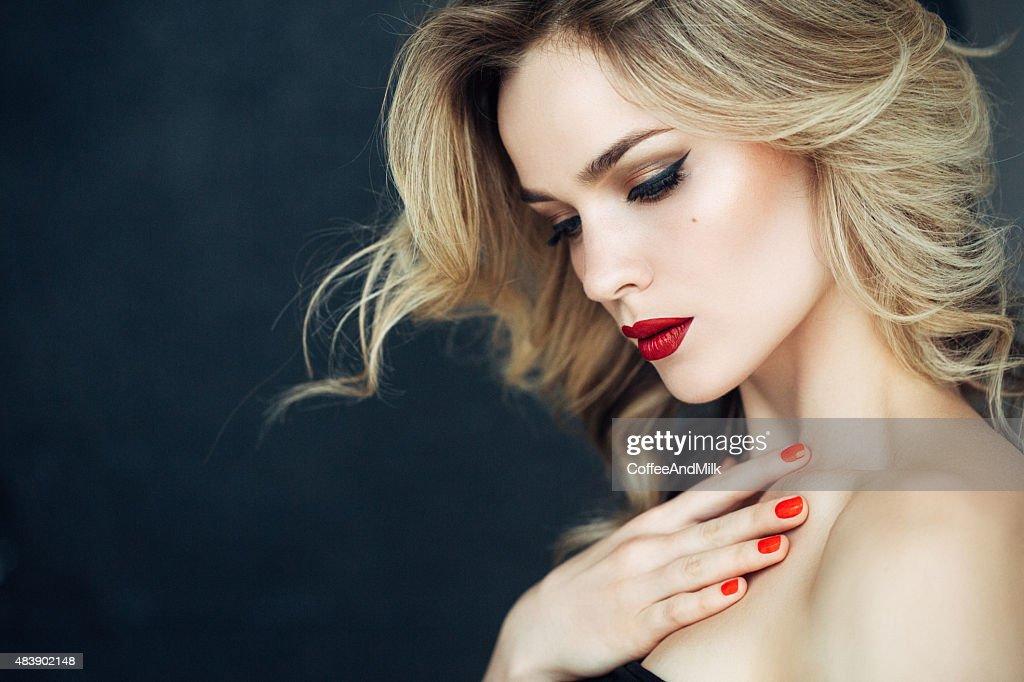 Beautiful woman with make up : Stock Photo