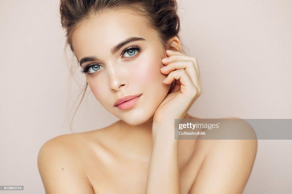 Beautiful woman with make-up : Stock Photo