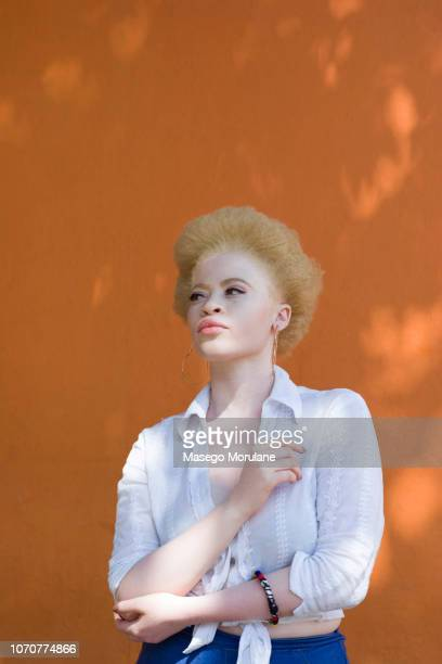Beautiful woman with natural afro hair