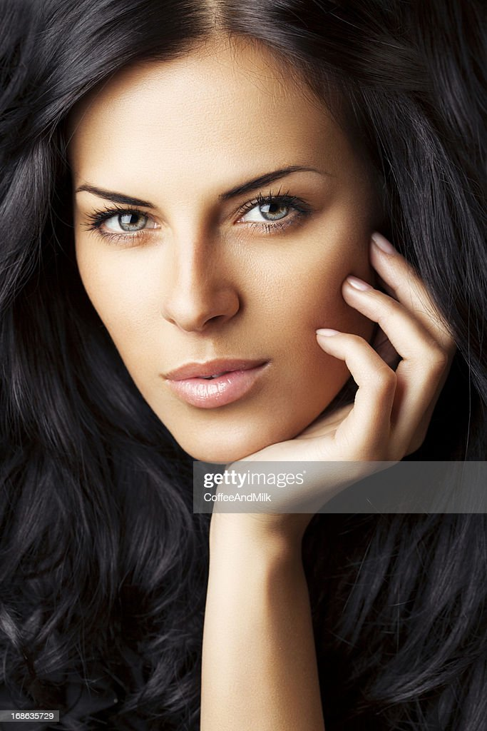 Beautiful Woman With Perfect Face Stock Photo Getty Images