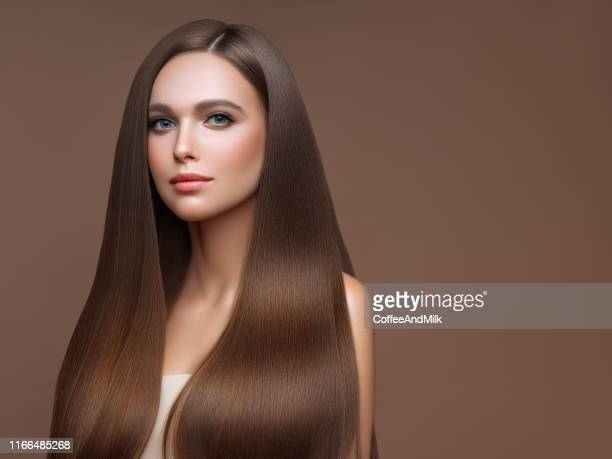 beautiful woman with perfect hairstyle - straight hair stock pictures, royalty-free photos & images