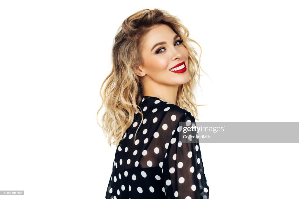 Beautiful woman with perfect hairstyle : Stock Photo