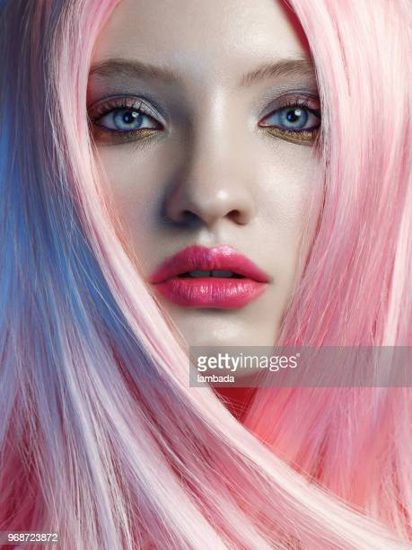 pink hair stock photos and pictures getty images