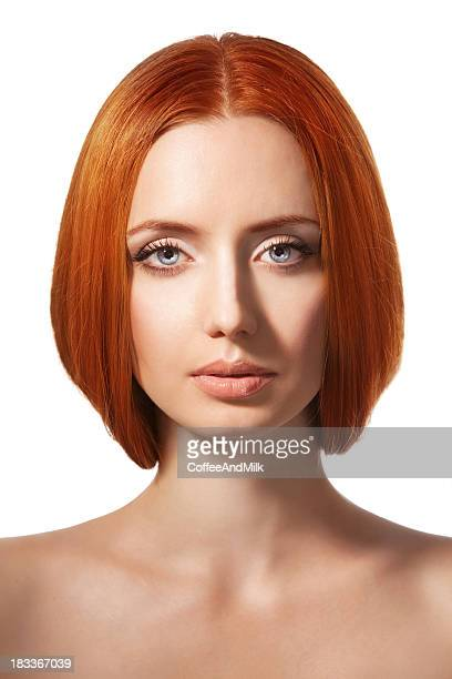 Beautiful woman with red hairs