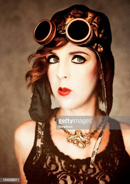 Beautiful Woman With Steampunk Style
