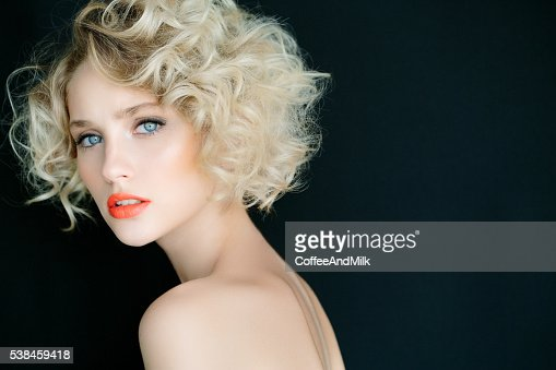 Beautiful Woman With Stylish Hairstyle Stock Photo Getty Images