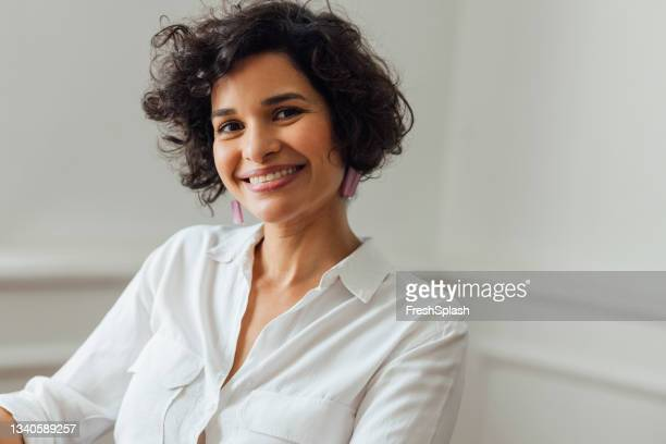 beautiful woman working at home - 35 39 years stock pictures, royalty-free photos & images