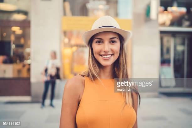 schöne frau porträt in wien - selbstportrait stock-fotos und bilder