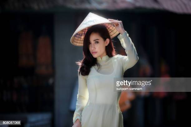Beautiful women in Ao Dai  Vietnam