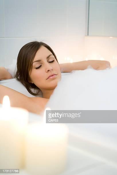 Beautiful Women Relaxing In Her Bath