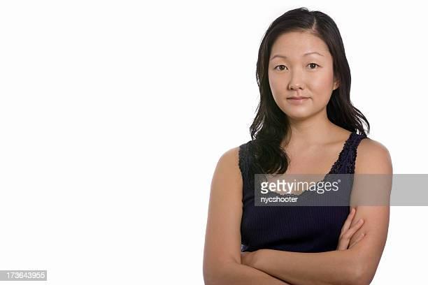 Beautiful young Asian woman portrait