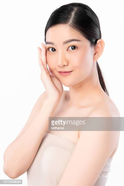 beautiful young asian woman with clean