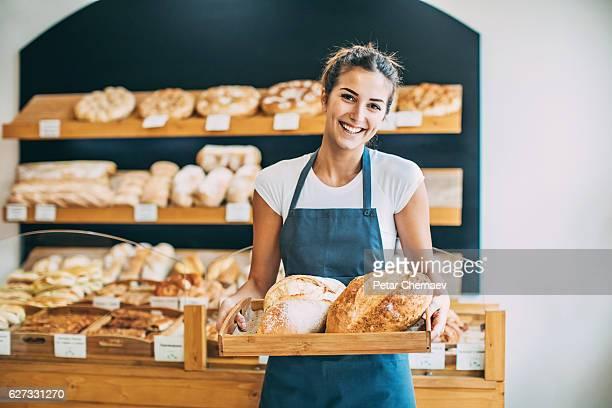 Beautiful young baker