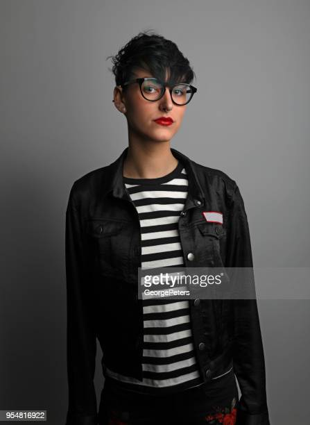 beautiful young casual hipster woman - vintage lesbian photos stock pictures, royalty-free photos & images