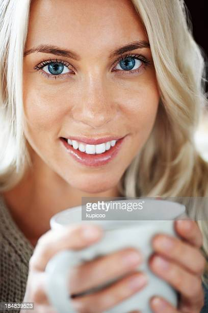 Beautiful young female with a cup of tea