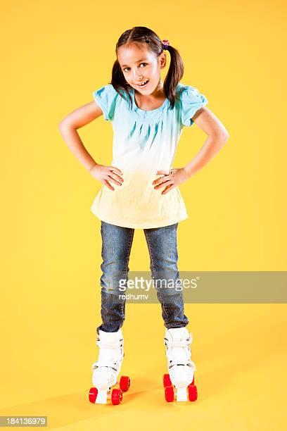 Jovem linda na Rollerskates