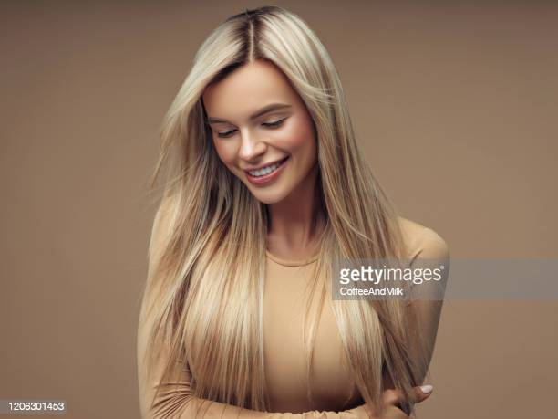 beautiful young girl - straight hair stock pictures, royalty-free photos & images