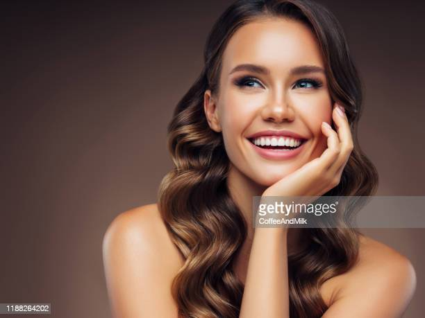 beautiful young girl with nice sincere smile - woman flashing stock pictures, royalty-free photos & images