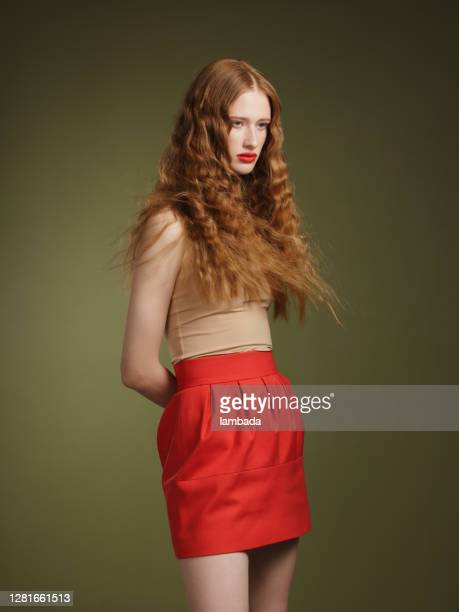 beautiful young redhead woman - wavy hair stock pictures, royalty-free photos & images