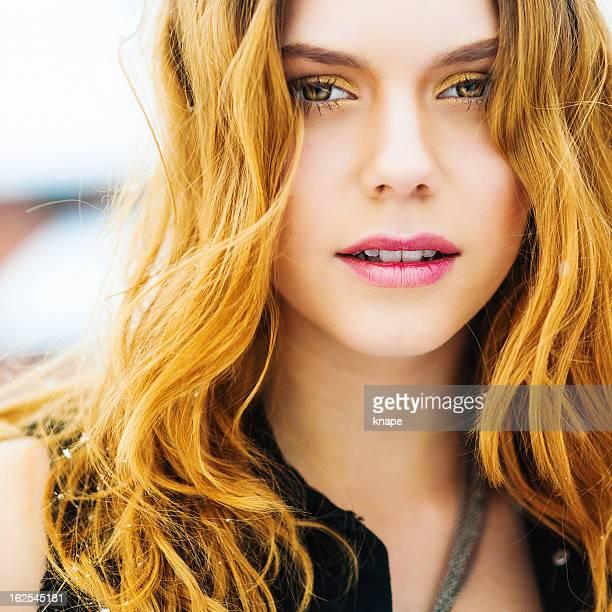 Beautiful young rock chic woman