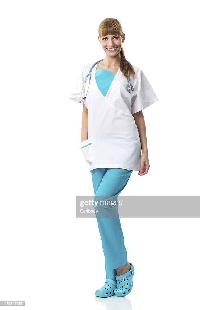 Schöne junge Chirurg Porträt : Stock-Foto